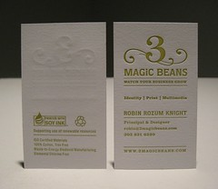 3 Magic Beans Business Card