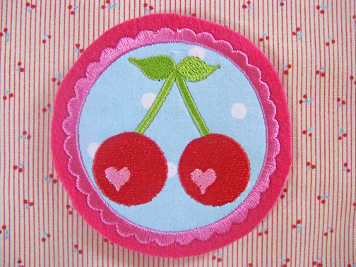 cherry applique