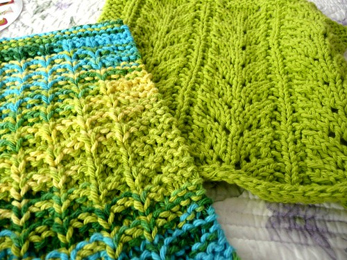 Green and Blue Dishcloths