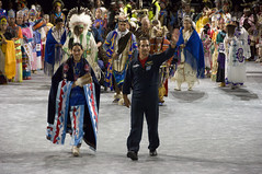 2007 Powwow (Smithsonian Institution) Tags: colors festival dance costume uniform indian crowd ceremony tribal parade arena nativeamerican event cul waving nativeamericans nationalmuseumoftheamericanindian americanindian headdress powwow danceparade smithsonianinstitution traditionalclothing powwows nationalpowwow nativeamericandance manwaving cynthiafrankenburg nativeamericanparade tribalshowcase modernnativeamericancelebration
