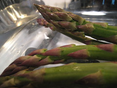 Asparagus and Garlic Preparation
