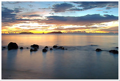 (Nora Carol) Tags: sunset sea white black rock suck island grey sand waves tide low shore kotakinabalu sabah hdr h5 sutera malaysianphotographer mamutik sulug suterahabour noracarol sabahanphotographer landscapephotographerfromsabah womanlandscapephotographer womaninphotography