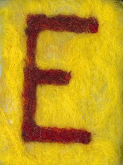 Alphabet ATC or ACEO Available - Needlefelted Letter E