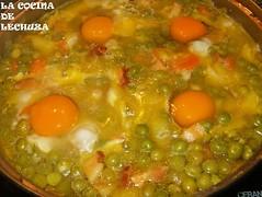 Huevos escalfados-añadir huevos