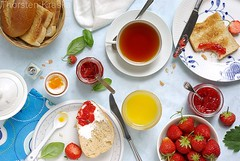 Breakfast with strawberry jams (Thorsten (TK)) Tags: morning blue red food orange green art leaves lines yellow fruit breakfast germany table leaf healthy strawberry day pattern basket sweet juice circles napkin toast sunday egg salt knife shapes structures strawberries lifestyle saltshaker sunny spoon bowl fresh fromabove german napkins basil casual vanilla lime crumbs teacup jam sonnig fruity tablesetting jams graphical frhstck morgens toasted breadrolls eggshells highangle healthyeating foodphotography petitdjeuner breadroll fromtop frhstckstisch foodpresentation konfitre breakfasttable foodstyling topdownview germanbreakfast thorstenkraska germanfoodphotography breakfastpicture overheadshotofabreakfasttable