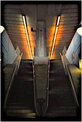 The Platform (CoreyWoodruff) Tags: architecture stairs train subway metro stlouis symmetry transportation platinum coollighting pfo challengeyouwinner photofaceoffwinner photofaceoffplatinum pfogold pfoplatinum tamron28300mmvclens