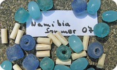 beads from Namibia