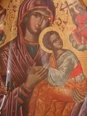 Byzantine fresco of Mary and Jesus (steven_and_haley_bach) Tags: fresco byzantine mystras sixthday mistras greecevacation byzantineruins