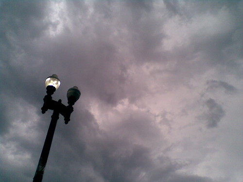 Lamppost and Clouds