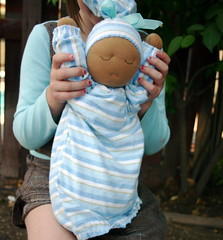 Millet-filled weighted doll (FaerieRebecca) Tags: baby millet weighted waldorfdoll steinerdoll