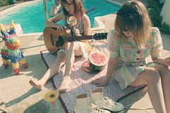 (yyellowbird) Tags: girls party summer selfportrait pool sunglasses swimming drink guitar erin rollerskates watermelon pinata cari lollipop