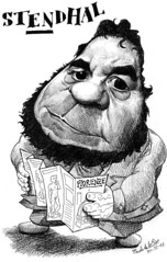 STENDHAL, Henri Beyle (Morales de los Ros) Tags: writers caricaturas philosophers caricatures escritores filsofos