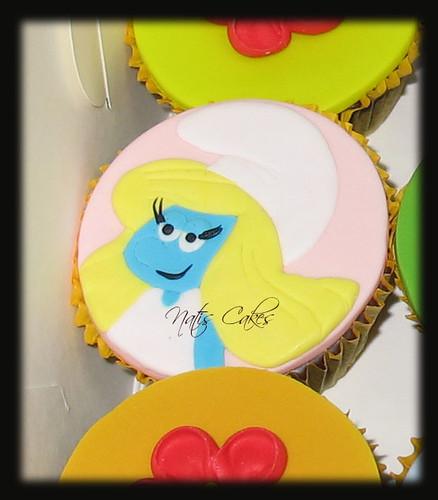 Smurf Themed Cupcakes - Smurfette