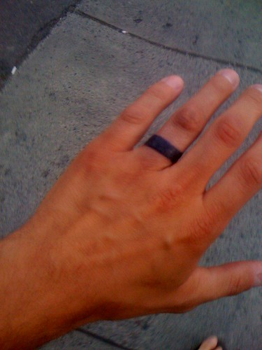 New wedding ring tattoo, for 1 year anniversary