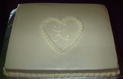 Luttrell Wedding Sheet Cake