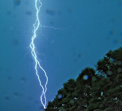 Lightning - HDR version (krazyvshank) Tags: news weather nbc charlotte olympus strike lightning zuiko f28 e510 1454mm abigfave aplusphoto