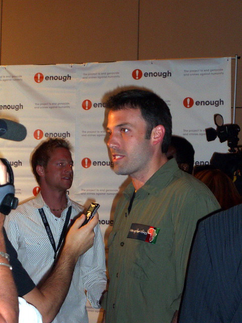 Ben Affleck with Press by ENOUGH Project