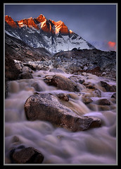 Lhotse Falls by Michael Anderson (AndersonImages) Tags: china travel nepal sunset mountain motion water digital sunrise trekking liriver michael waterfall asia guilin peak tibet hasselblad anderson monastery waterfalls medium format wilderness himalaya spiritual sichuan everest silky basecamp michaelanderson h2d nepaleveresttrektrekkingsnowwatercloudshimalayakhumbusnowpeakexpeditionamadablamlhotsekangtengalobuchepherichemichaelanderson