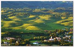 The last rays (aviana2) Tags: sunset panorama landscape view slovenia vineyards vista sonyalpha100 challengeyouwinner aviana2 fotocompetitionbronze biljenskigrii