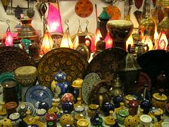 Moroccan shop (averiguare) Tags: shop ceramics display market morocco arab pottery lamps