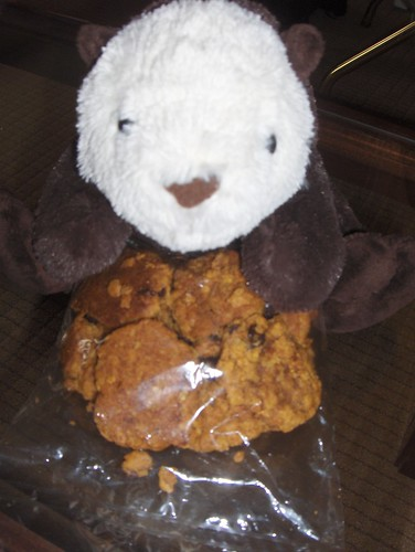And Shelly got yummy vegan cookies!