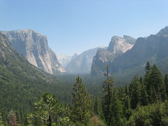Driving to the Glacier Point, Wawona Channel Vista Point Photo