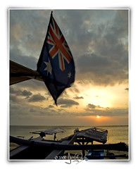 where am I? (Jamie ^_^) Tags: sunset sky bali beach clouds boat segara