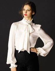 White__ruffles__bloomingdales1 (tuxedoDE) Tags: blouse tieneck
