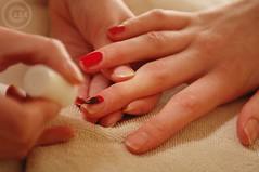 Never underestimate a woman with manicure and a Harvard law degree_~ (Creative_photography) Tags: red nail polish nails manicure pedicure spa aak 5stars cherrymyfav