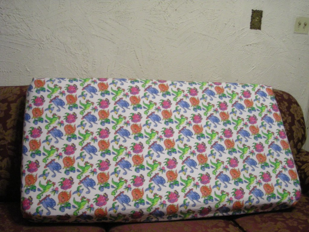 flannel crib sheet #3