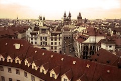 Prague (From Above) (Gilderic Photography) Tags: street city roof winter sky urban panorama building tower art church car architecture lumix europe cityscape tour view prague hiver perspective culture praha voiture panasonic ciel rue toit eglise ville pointdevue clocher astrological astronomic klementinum gilderic goldstaraward goldenstaraward astromique
