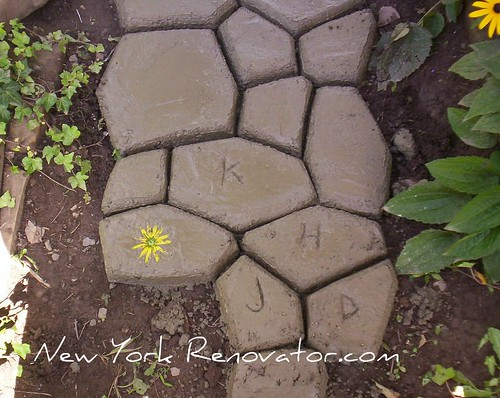Initials in Concrete