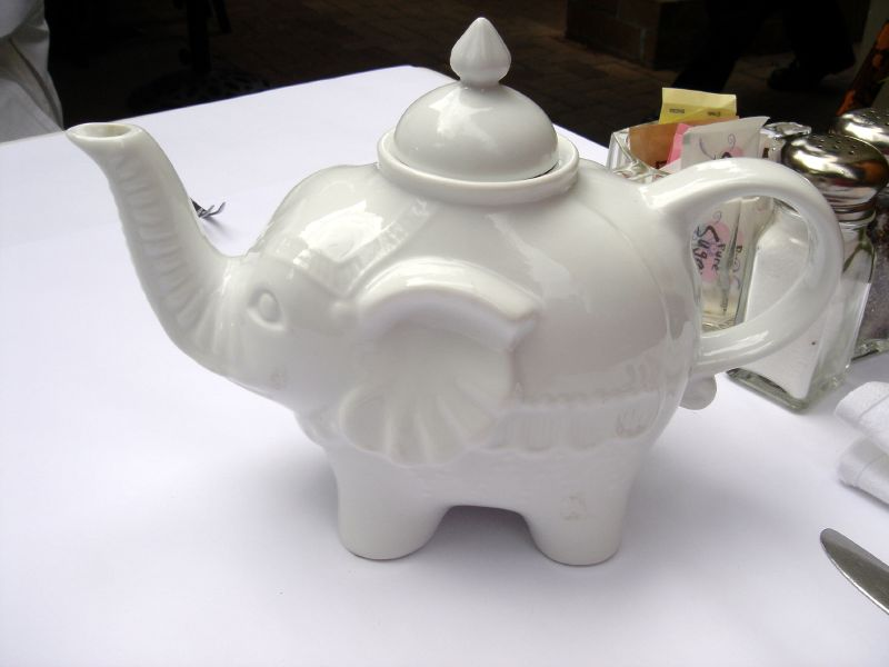 White Elephant Tea Pot