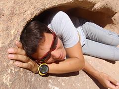 Me in a hole in a rock