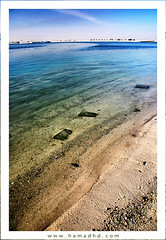 Kairan Beach (Hamad Al-meer) Tags: blue sea color beach water rock canon landscape eos sand hd kuwait hamad kw q8 30d khairan ساحل حمد الوان الكويت كويت شاطئ بحر almeer kairan كانون الخيران aplusphoto خيران المير تدرج hamadhd hamadhdcom wwwhamadhdcom