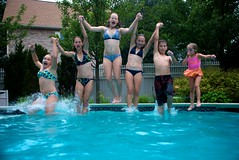 all together now! (elizabethdherman) Tags: family pool swimming scott jump massachusetts goggles ivy lindsay freeze kaitlyn stopmotion danvers stopaction sarav littlecousin damore laureng freezejump