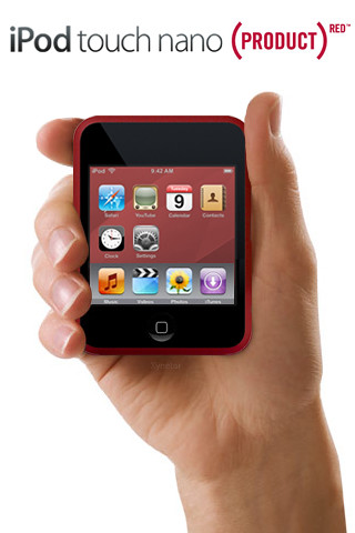 iPhone Wallpaper: iPod touch nano (PRODUCT) RED hand