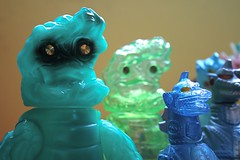 Gargamel Hedorans (fun9us) Tags: blue slash green dark glow godzilla glowinthedark transparent mecha gargamel gid hedorah mechagodzilla hedoran hedolan