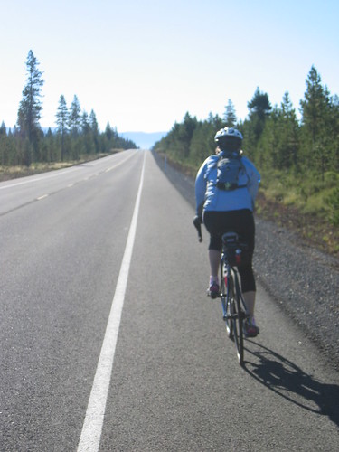 Diane heading down past the Sunriver turnoff