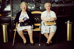 sisters (andrew sea james) Tags: street portrait people urban cane bench 50mm nikon women sitting lasvegas candid elderly sit nikkor f18 seated d60