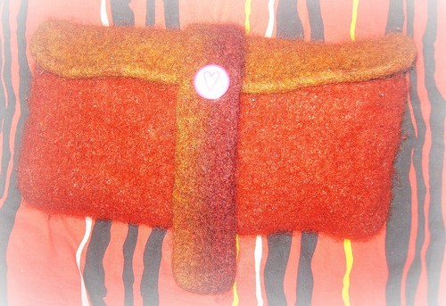 Laptop Sleeve after felting