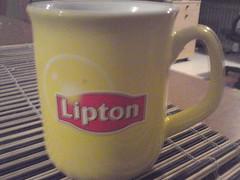 Lipton tea cup