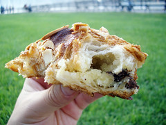 almond croissant innards from jacques torres