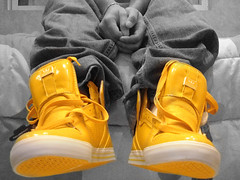 yellow joints (jointcookie) Tags: hot yellow photoshop fire edited fresh sneakers collection skate laces streetwear supra untied jointcookie vaiders wwwsuprafootwearcom