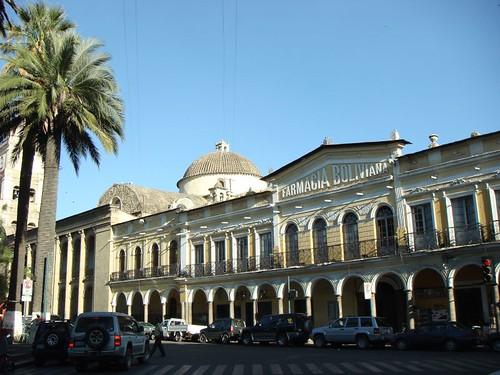 Cochabamba main plaza...