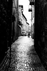 city streets (corkaborka77) Tags: street blackandwhite bw italy cobblestone italybw