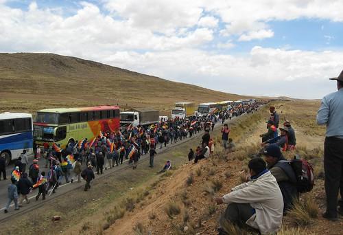 Marcha de los Movimientos sociales rumbo a La Paz Bolivia