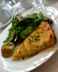 My leek tart with baked apple and salad
