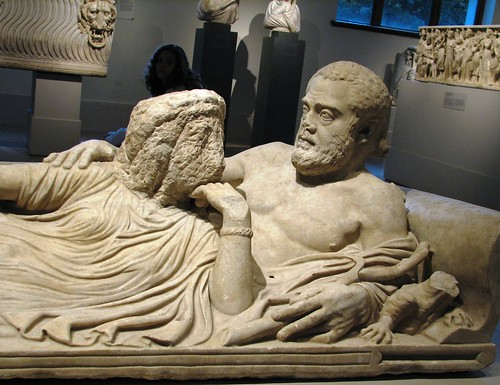 Marble sarcophagus lid with reclining couple & Marble sarcophagus lid with reclining couple - a photo on Flickriver islam-shia.org