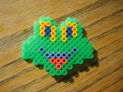 Perler Beads Frog (Kid's Birthday Parties) Tags: kids beads crafts frog kidscrafts fusebeads hamabeads perlerbeads